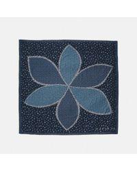 COACH - Blue Marguerite Patchwork Oversized Square - Lyst