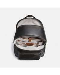 COACH - Black League Backpack With Link Detail - Lyst