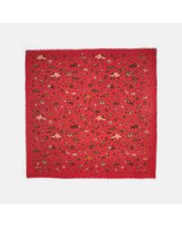 COACH - Red Outerspace Print Oversized Square - Lyst