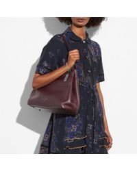 COACH - Pink Turnlock Edie Shoulder Bag In Polished Pebble Leather - Lyst