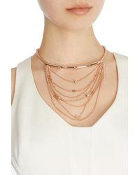 Coast - Metallic Bertee Bar Rose Gold Necklace - Lyst