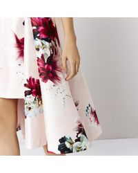 Coast - Pink Toulouse Printed Skirt - Lyst