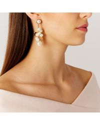 Coast | Metallic Naxos Pearl Earrings | Lyst