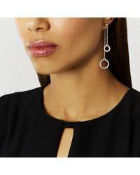 Coast | Metallic Castril Circle Drop Earrings | Lyst