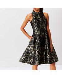 Coast - Black Venus Marble Jacquard Dress - Lyst