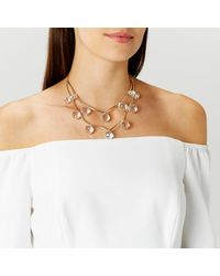 Coast | Metallic Nysa Beaded Necklace | Lyst