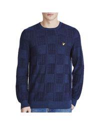 Lyle & Scott - Blue Crew Neck Float Sweater for Men - Lyst