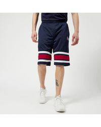 c966f3179d52 Fila Men's Parker Stripe Detail Mesh Long Shorts in Blue for Men - Lyst