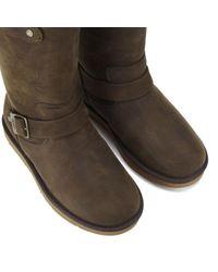 UGG - Brown Women's Sutter Waterproof Leather Buckle Boots - Lyst