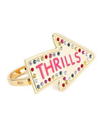 Maria Francesca Pepe | Metallic Women's Street Neon Thrills Double Finger Ring | Lyst