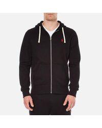 Polo Ralph Lauren | Black Men's Zip Through Hooded Athletic Fleece for Men | Lyst