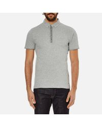 BOSS Orange | Gray Men's Playott Placket Trim Polo Shirt for Men | Lyst