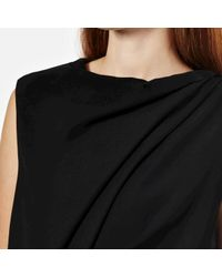 McQ - Black Women's Shawl Drape Mini Dress - Lyst
