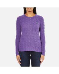 Polo Ralph Lauren | Purple Women's Julianna Cashmere Blend Crew Neck Jumper | Lyst