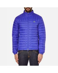 Lacoste | Blue Men's Lightweight Padded Jacket for Men | Lyst