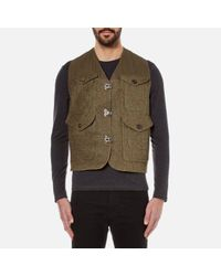 Nigel Cabourn   Green Men's Hybrid Finish Harris Tweed Cameraman Converse Vest Jacket for Men   Lyst