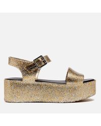 Melissa - Metallic Women's Mar Flatform Sandals - Lyst