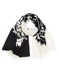 KENZO | Multicolor Modal Tiger Chest Icon Scarf | Lyst