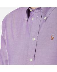 Polo Ralph Lauren - Purple Women's Harper Shirt - Lyst
