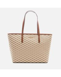 MICHAEL Michael Kors | Natural Women's Emry Large Top Zip Tote Bag | Lyst