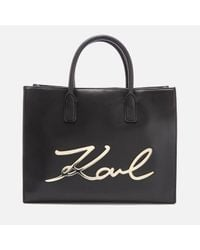 Karl Lagerfeld | Black Women's K/metal Signature Shopper Bag | Lyst