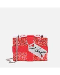 Karl Lagerfeld | Red Women's Valentine Minaudiere Bag | Lyst
