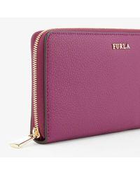 Furla - Purple Women's Babylon Xl Zip Around Wallet - Lyst