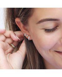 Missoma - Metallic Women's Dagger Pave Stud Earrings - Lyst