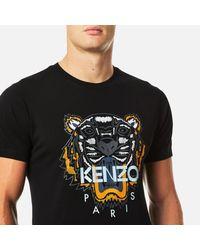 KENZO - Black Tiger Print T-shirt for Men - Lyst