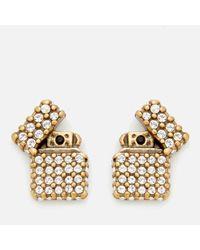 Marc Jacobs | Metallic Women's Strass Lighter Studs | Lyst
