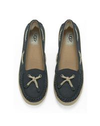 Ugg - Blue Women's Chivon Leather Moccasin Shoes - Lyst