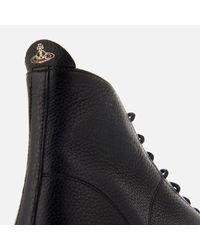 Vivienne Westwood - Black Men's Grain Leather Hitop Trainers for Men - Lyst