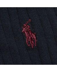 Polo Ralph Lauren - Blue Egyptian Cotton Ribbed Socks (3 Pack) for Men - Lyst