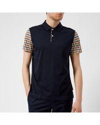 Aquascutum - Blue Men's Rutland Vicuna Detail Short Sleeve Polo Shirt for Men - Lyst
