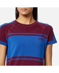 LNDR - Red Women's Varsity Seamless Retro Tech Short Sleeve Tshirt - Lyst