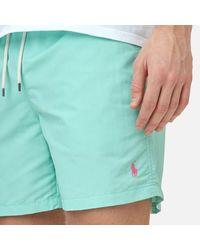 Polo Ralph Lauren - Green Men's Traveler Swim Shorts for Men - Lyst