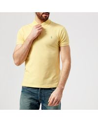 d4be39bab9ae6 Lyst - Polo Ralph Lauren Men s Stretch Mesh Polo Shirt in Yellow for Men