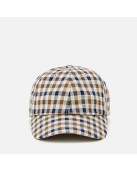 3f055930a83 Aquascutum Men s Abbott Club Check Cap for Men - Lyst