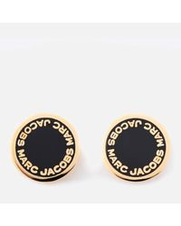 Marc Jacobs | Black Women's Enamel Logo Disc Studs | Lyst
