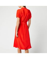 Diane von Furstenberg Red Addilyn Shirt Dress