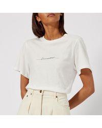 Rejina Pyo - White Women's Erin Business Woman Tshirt - Lyst