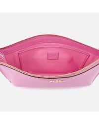 Furla Pink Babylon Extra Large Envelope Clutch Bag