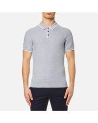Michael Kors - Gray Men's Tuck Stitch Tip Polo Shirt for Men - Lyst