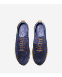 Cole Haan - Blue Men's Zerøgrand Perforated Sneaker for Men - Lyst