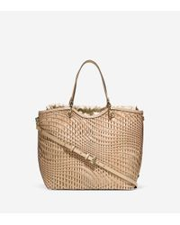 Cole Haan | Natural Genevieve Open Weave Tote | Lyst