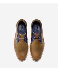 Cole Haan - Metallic Cambridge Leather Chukka Boots for Men - Lyst