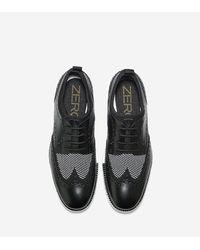 Cole Haan - Black Men's Zerøgrand Short Wingtip Oxford for Men - Lyst
