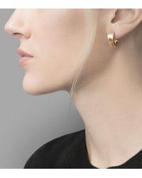 Cole Haan - Metallic Basket Weave Huggy Earrings - Lyst