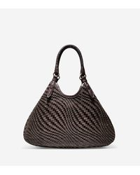 Cole Haan | Brown Genevieve Weave Large Triangle Tote | Lyst