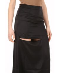 J.W. Anderson - Black Asymmetric Skirt With Cut Out Detail - Lyst